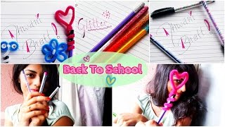 Back To School ♡ DIY Custom Pen, Pencil Toppers & Glitter Pencil Thumbnail