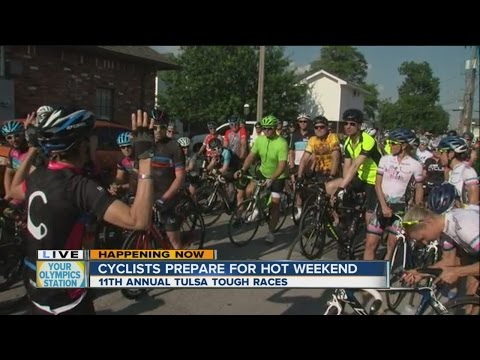 Local cyclists on 20-mile ride before Tulsa Tough