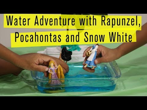 Water Adventure with Rapunzel, Pocahontas and Snow White- Mushy Potatoes