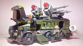 Обзор огромной военной машины Lego Sluban