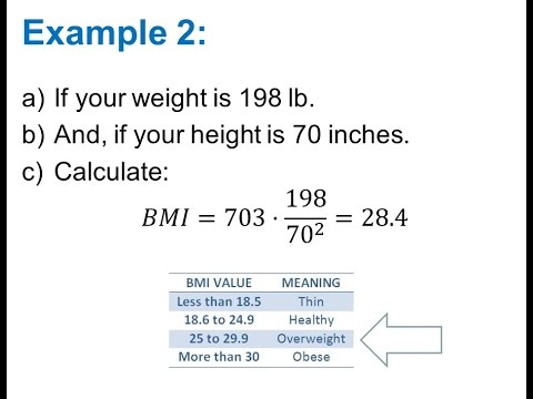 Calculate Body Mass Index (BMI) - YouTube