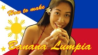 Cooking In Hilo, Hawaii - Authentic Filipino Banana Lumpia (turón)