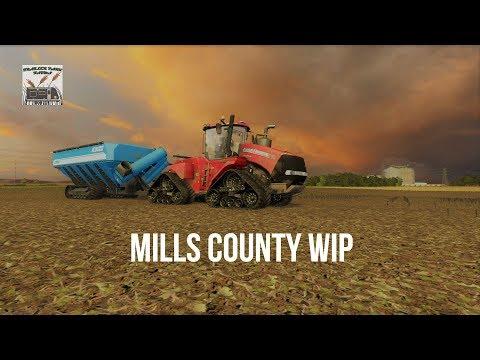 Farm Simulator 17 Mills County WIP, hauling wheat home, odd tillage jobs.