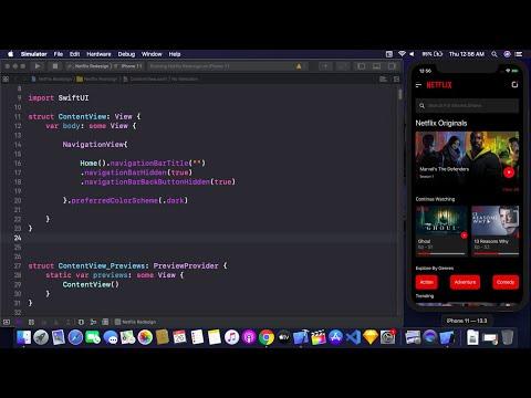 Netflix UI Redesign Using SwiftUI - Designing Netflix UI Using SwiftUI - SwiftUI Tutorial
