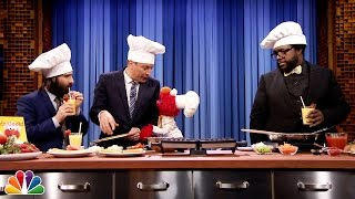 Elmo Cooks Waffle Grilled Cheese with Jimmy Fallon