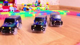 Cars for kids! Magic Tracks + Lego Duplo Auto Racing!!! Awesome!!!
