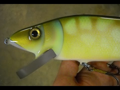 Painting a Pike JerkBait Lure