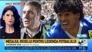 Mesajul lui Hagi după dispariţia lui Maradona: ''Fotbalul și lumea a pierdut un zeu