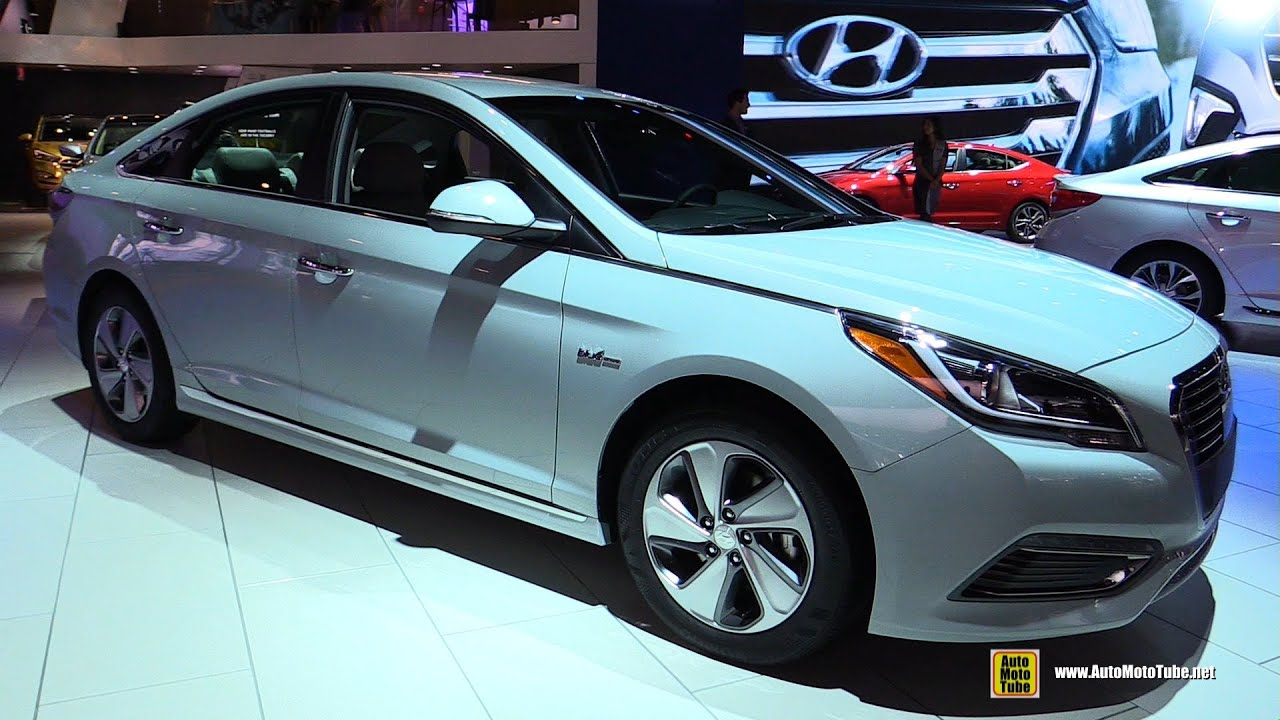 2016 Hyundai Sonata Plug In Hybrid Limited Exterior Interior Walkaround Detroit Auto Show You