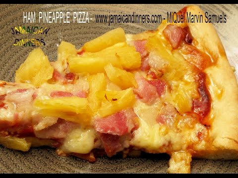 HAM or BACON PINEAPPLE PIZZA