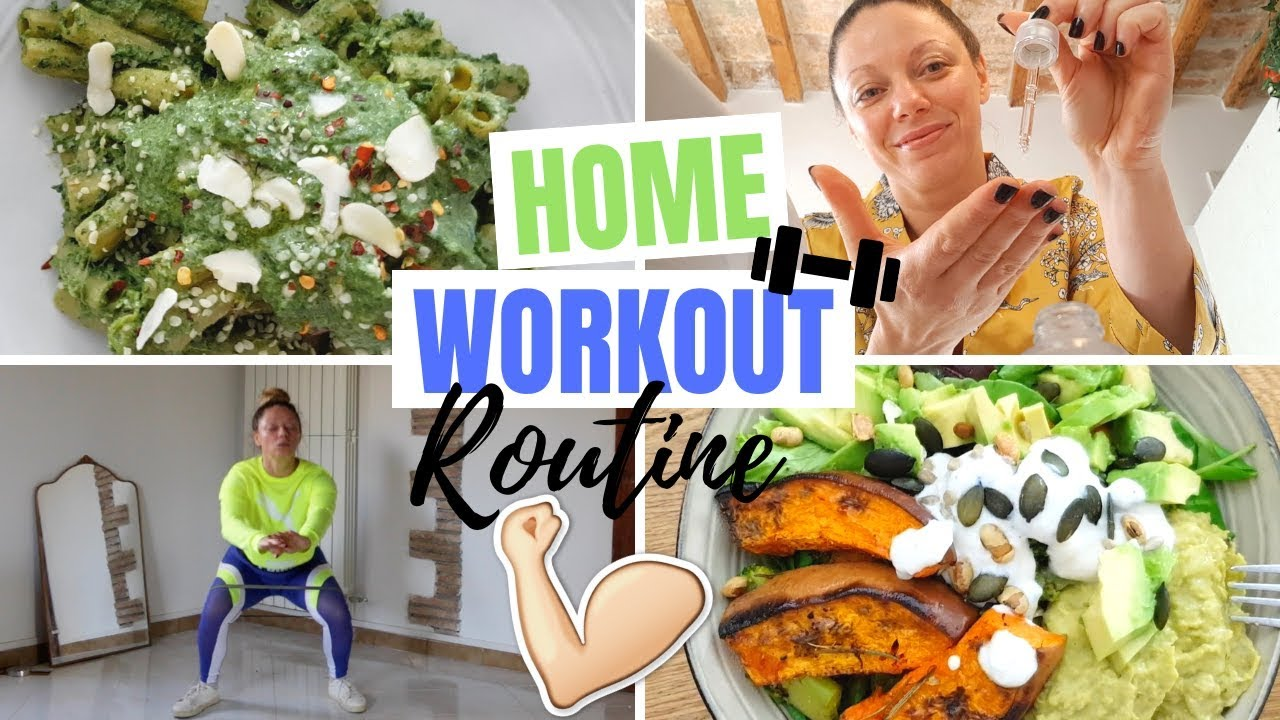 HOME WORKOUT ROUTINE: WHAT I EAT IN A DAY + BEAUTY ft. YesStyle