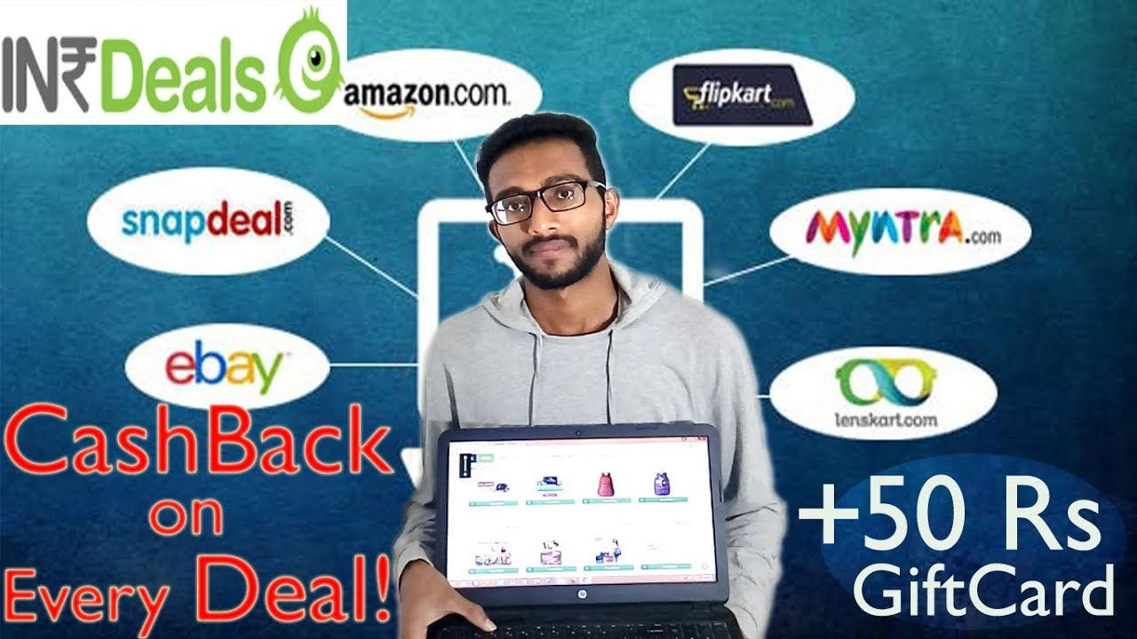 How to earn money online by shopping from Flipkart Amazon INRDEALS coupon cashback