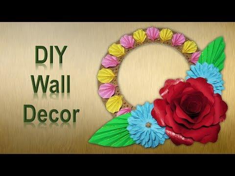 DIY Wall Decor || Paper Wall Hanging || Easy Handmade Photo Frame