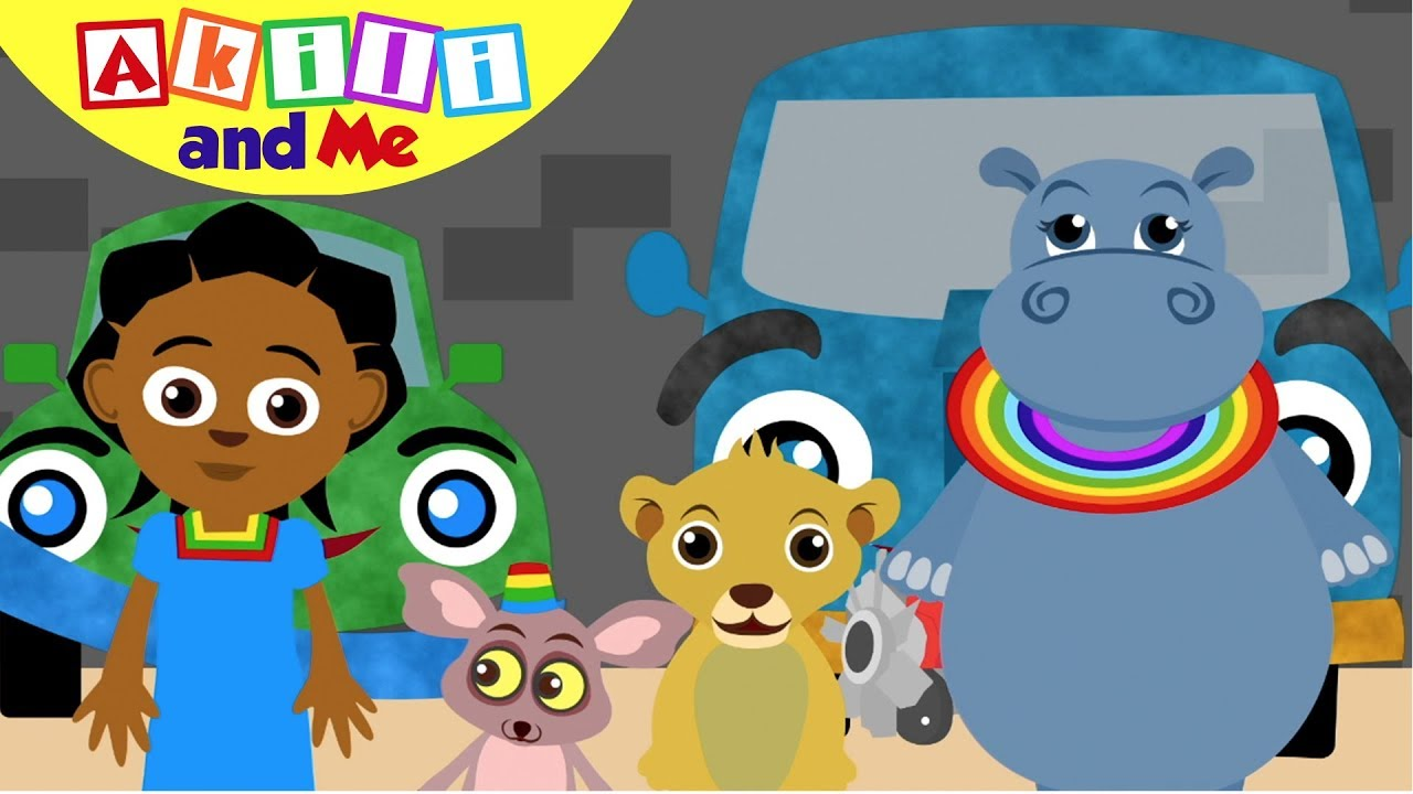 Car, Bus, Bicycle Song!   Sing with Akili and Me   African Educational Cartoon