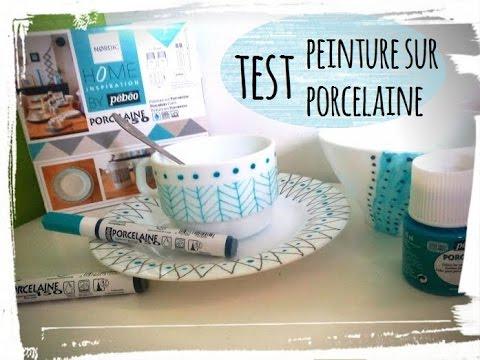 Test peinture sur porcelaine set d jeuner graphik youtube for Set petit dejeuner porcelaine