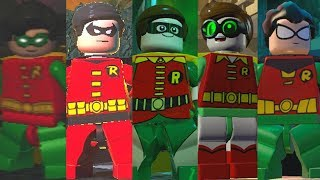 ALL Robin Suits in Lego Videogames (2008 - 2017)