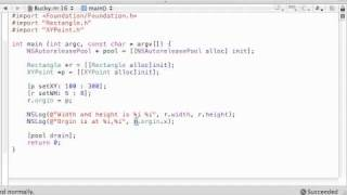 Objective C Programming Tutorial - 36 - Running the Brand New Point Program