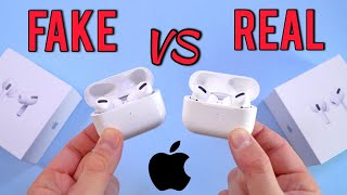 FAKE VS REAL Apple AirPods Pro - Buyers Beware! 1:1 Clone