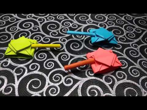 Origami tank folding instructions step by step for kids easy