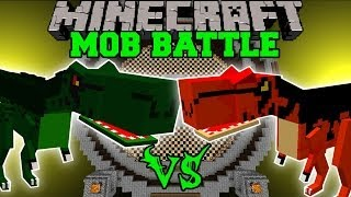 T-REX VS ALOSAURUS - Minecraft Mob Battles - OreSpawn Dinosaurs Mod Battle