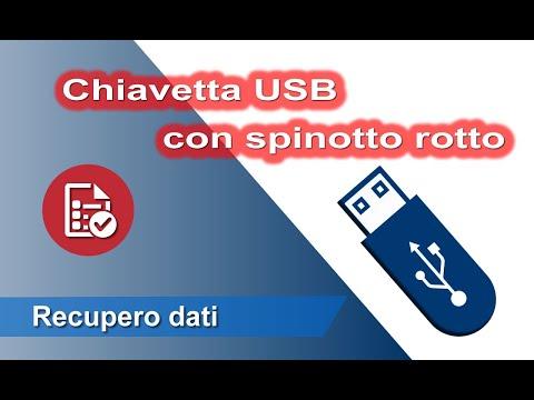 Chiavetta usb con spinotto rotto. Riparazione e recupero dati. Recovery data from broken USB Stick