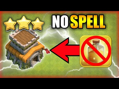 NO SPELL OVER POWER ATTACK TH8 |Clash of clans