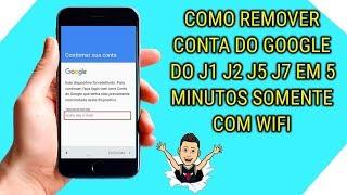 Como remover conta do google do j1 j2 j5 j7  - ( FUNCIONANDO AGOSTO 2018