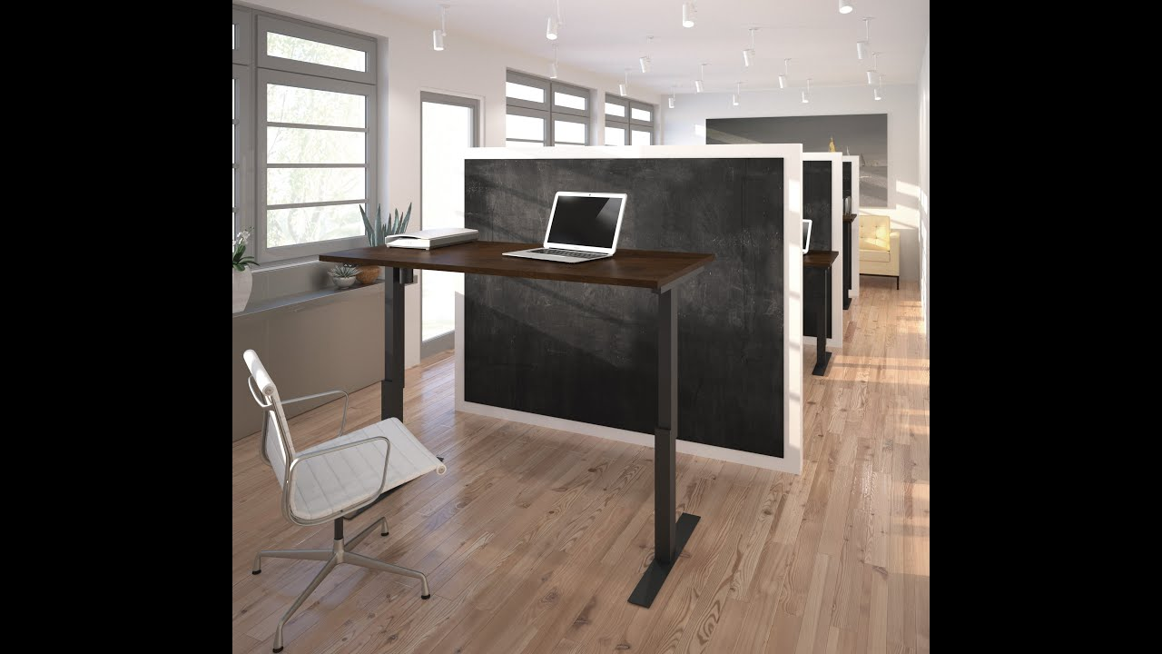 Electric Height Adjustable Table By Bestar   YouTube
