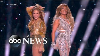 J.Lo and Shakira's jaw dropping Super Bowl halftime performance | ABC News
