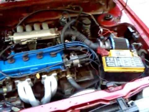 Nissan Sentra b12 Swap GA16DE With Safc - YouTube