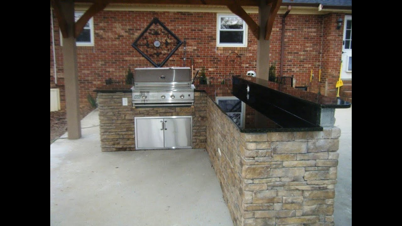 Outdoor Kitchen, Grill and Patio Ideas 5 24 14 - YouTube on Patio Grilling Area  id=88380