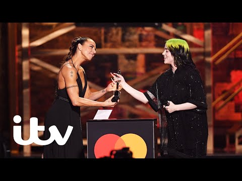 The BRITs | Billie Eilish Is Presented The Best International Female Award By Sporty Spice