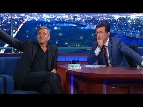 """George Clooney Introduces His New Film """"Decision Strike"""""""