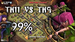 ŁUKI W CLAN CASTLE - TH 11 VS TH9 - CLASH OF CLANS POLSKA