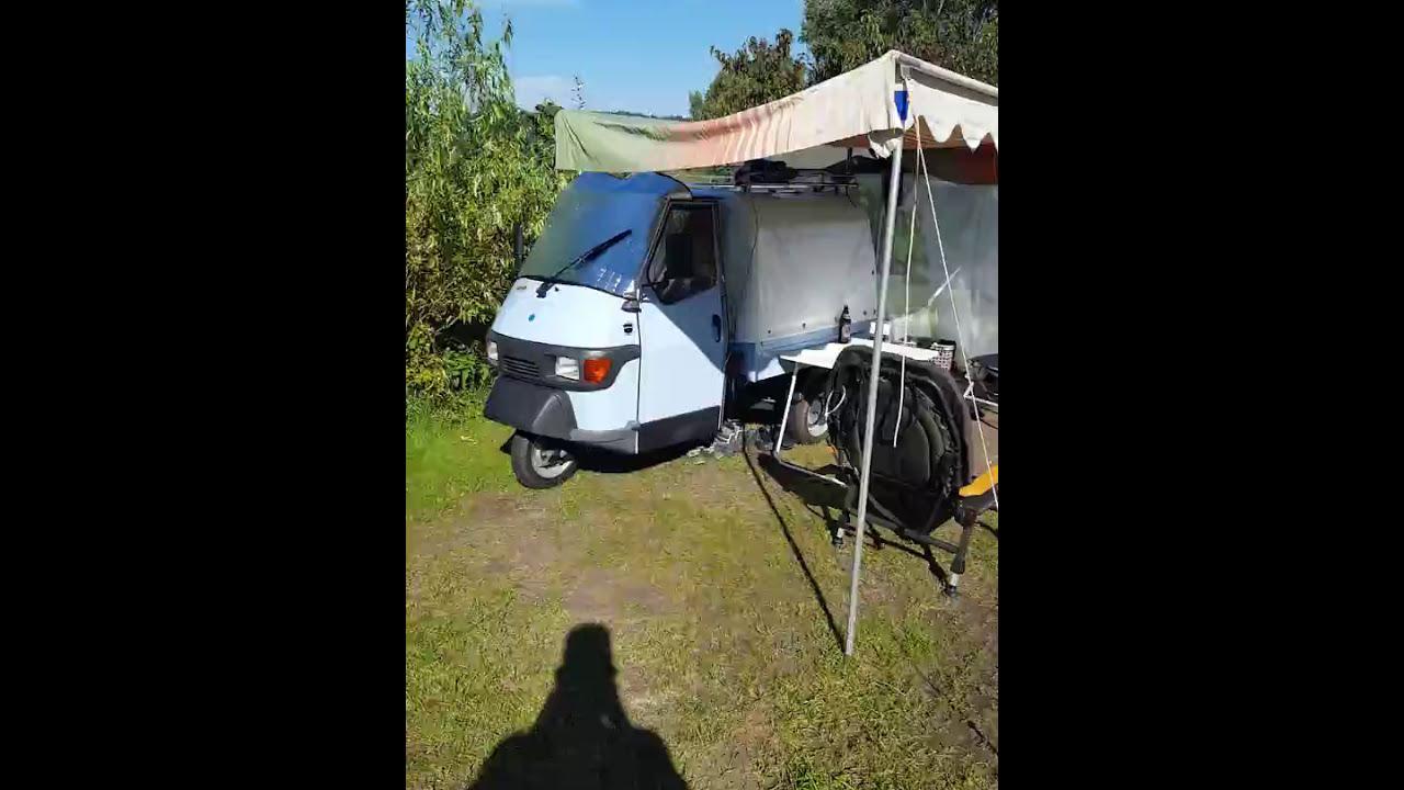 kleinstes wohnmobil der welt ape 50 youtube. Black Bedroom Furniture Sets. Home Design Ideas