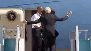 Obama Yells at Bill Clinton to Get on Air Force One