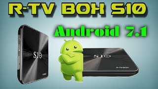 2017 NEW! R-TV BOX S10 Android 7.1 DDR4 3/32GB Amlogic S912 Android TV Box