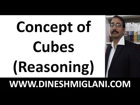 Concept of Cubes( Reasoning) by Dinesh Miglani