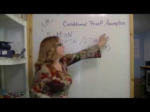 Conditional Proof Assumption & Reductio Ad Absurdum part 1