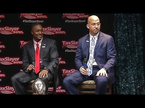 TaxSlayer Bowl 2016 coaches' news conference