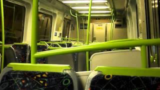 metro trains melbourne onboard sandringham train leaving flinders street
