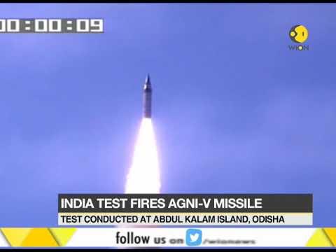 India test fires Agni-V missile
