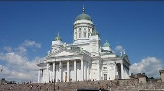 Finnland City Sightseeing Senatsplatz Senaatintori Dom von Helsinki Tuomiokirkko Suurkirkko