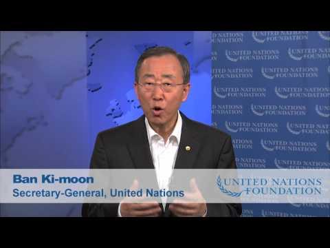 UN Secretary-General Ban Ki-moon Thanks Idol Gives Back and the UN Foundation