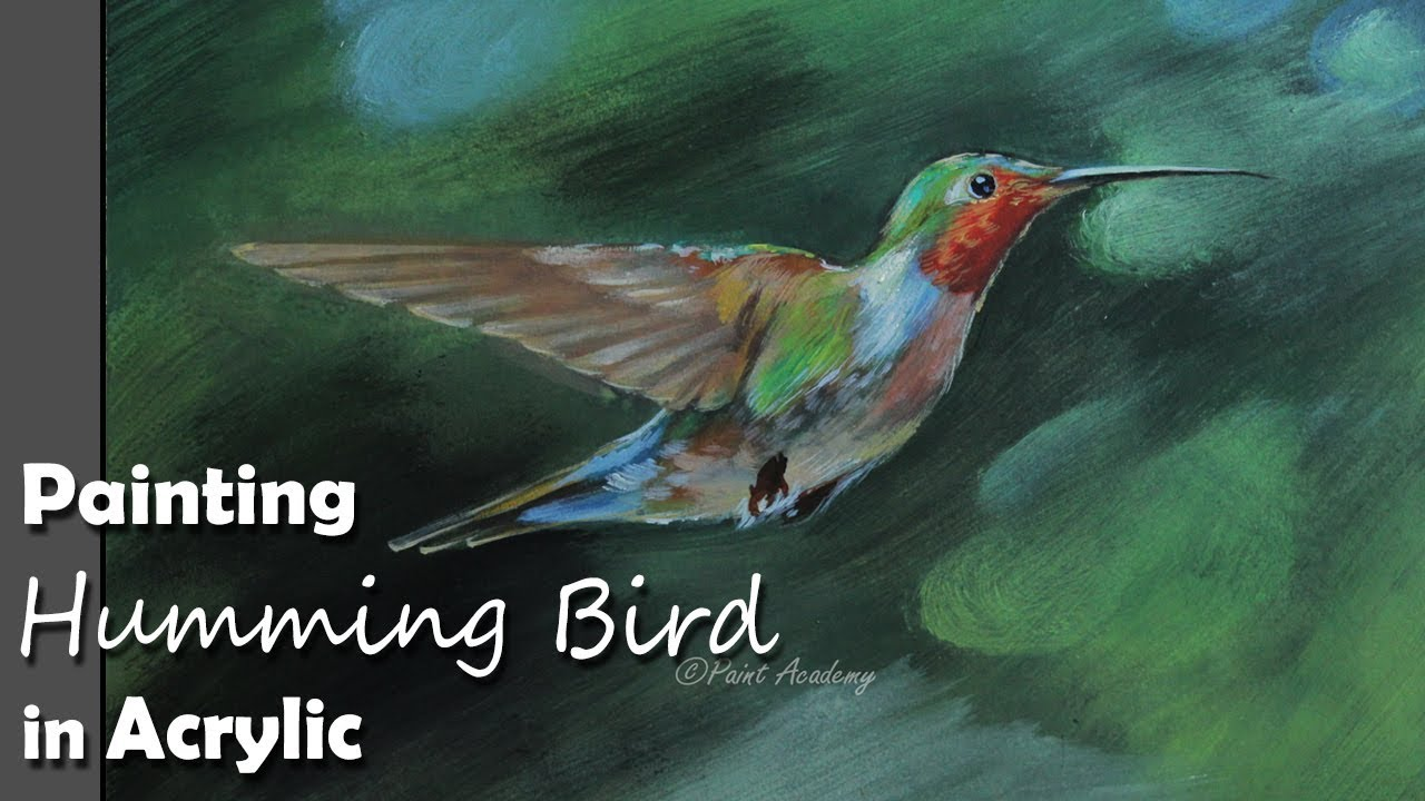 How To Paint Hummingbird In Acrylic