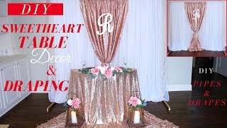 Sweetheart Table Decor & Draping   DIY Wedding Draping Techniques