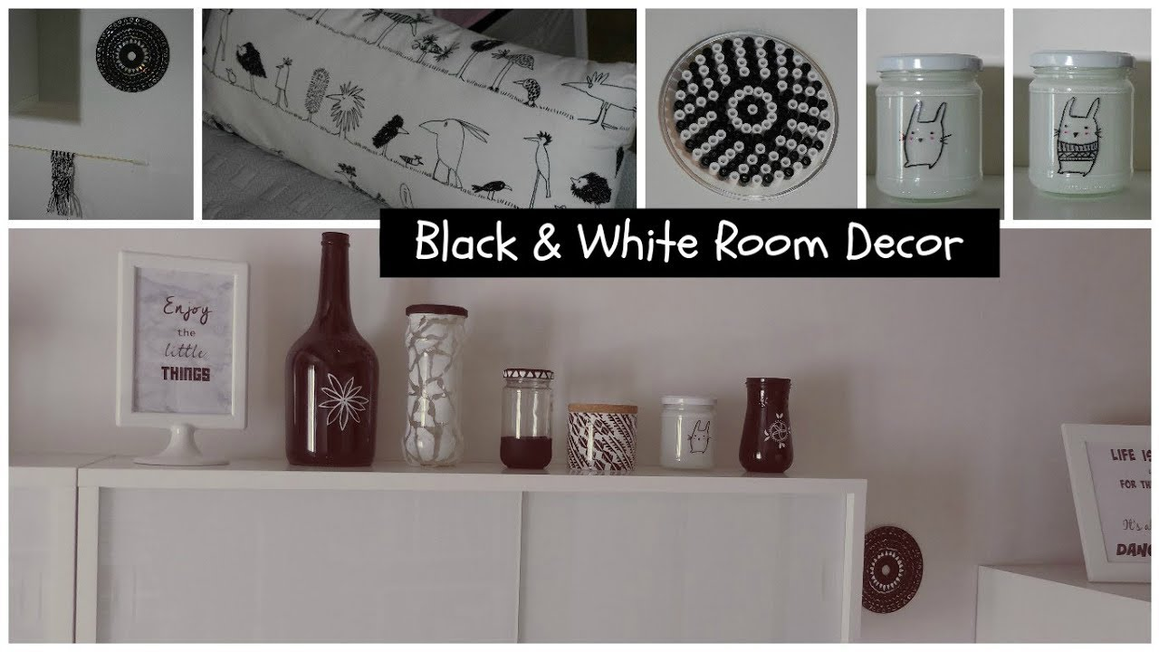 black and white room decor diy dco en noir et blanc faire soi mme gifts rcup