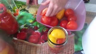 Готовим на зиму домашние помидоры в собственном соку, очень быстро, просто и полезно.