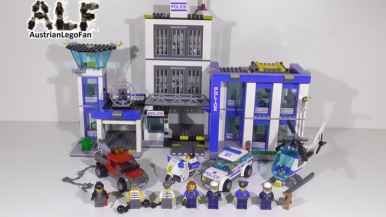 Lego City 60047 Police Station  Lego Speed Build Review  YouTube