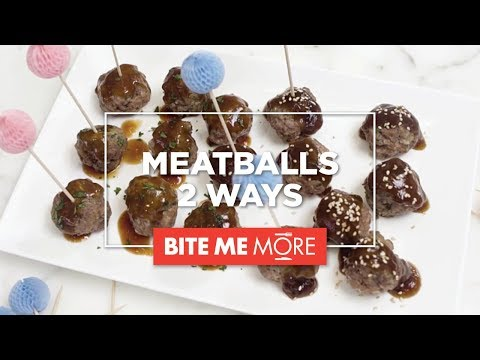 APPETIZER RECIPE - Easy Party Meatballs 2 Ways